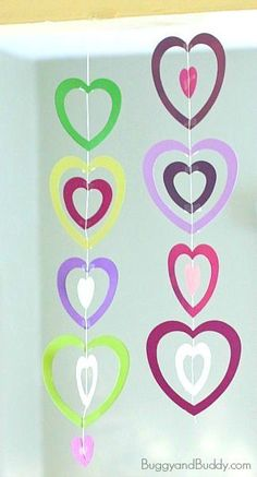 Easy Valentine's Day Craft for Kids: Paper Heart Mobile