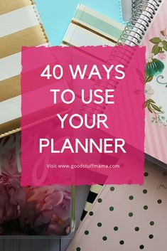 Here are 40 things you could be using your planner for from @goodstuffmama