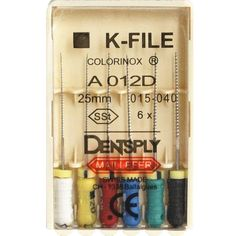 10 Dentsply Maillefer K-File 25mm 015-040 SSt Dental Endo Root Canal Hand Files #Shaind2014