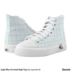 Light Blue Scottish High Tops Printed Shoes you at www.zazzle.com/superdumb