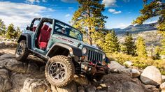 The 2013 Jeep Wrangler Rubicon 10th Anniversary Edition is revealed at the LA Motor Show
