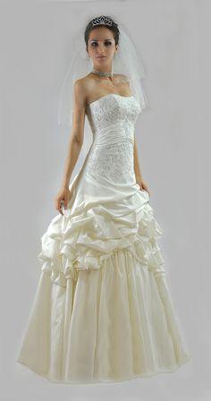 Robe de mariée taffetas