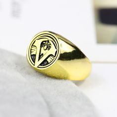 Gold Assassins Creed Master Ring Anime Cosplay Accessories Bronze Anti-silver 4 Colors Men Anillos For Halloween Party Ring