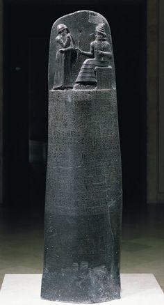 Law Code of Hammurabi, king of Babylon 1792–1750 BC