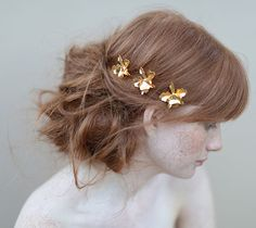 gold hair jewels