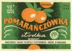 Pomarańczówka słodka - Warszawska Wytwórnia Wódek ''Koneser''