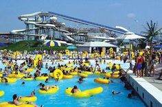 Big Splash Water Park. Most popular place to go in the Summer.