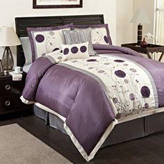 10 Best Plum Comforter Sets images | Bed room, Purple bedrooms