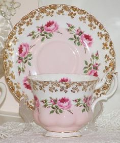 Pretty Teacup and Saucer Set