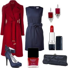 Classic Navy and Red Work Outfit