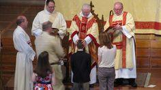 Confirmations at Christ Church Cathedral, Bishop Wayne Smith.