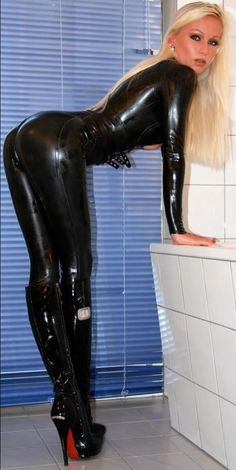Latex leggings and boots
