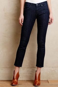AG Dotted Stevie Ankle Jeans Downpour Dots Denim #anthrofave