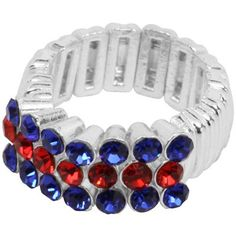 Kansas Jayhawks Crystal Stretch Ring