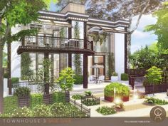 Townhouse 3 by Cross Architecture for The Sims 4