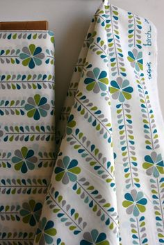 Organic Stem Stripe in Grass by Designer Dan by sewfinefabric, $16.50