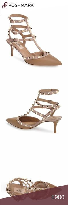 Valentino Rockstud kitten heel pumps Brand new. Size 42. 11.5. Matches with every outfit!! Valentino Shoes