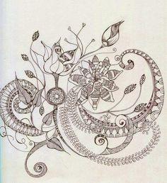 (2) Floral Zentangle Photos - Bilder Land