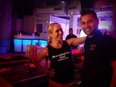 Skandinavian Bars & Disco Team before the storm! Always smiley and ready for a Big Night in Mykonos.