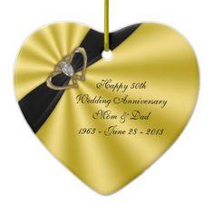 Customize it - 50th Wedding Anniversary Ornament