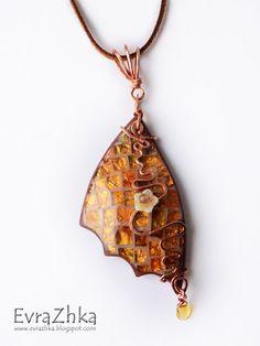polymerclayfimo: Изделия - эпоксидная мозаика - Beautiful polymer clay pendant!!