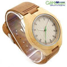 Designer Wooden Watch by Gassen James - Sahara - Bamboo and Leather