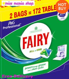 172 Dishwasher Tablets Fairy All In One Bulk Buy Tabs Cleaning Dishes Capsules