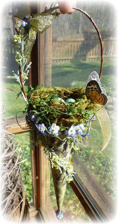 Springtime Nest Cone Decoration