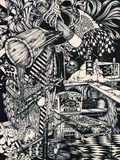 Crazy drawings by Andy Harris. www.ashaesthetic.com