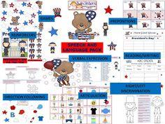 Twin Speech, Language & Literacy LLC: President's Day Speech & Language Packet + Free pages!