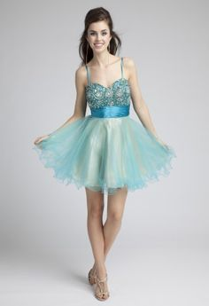 Prom Dresses 2013 - Short Beaded Tulle Prom Dress from Camille La Vie and Group USA
