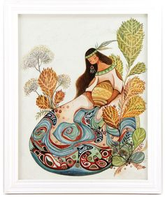 Zodiac Sign: Aquarius Framed Watercolor Original $600 #alinachau