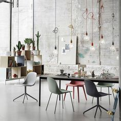 The E27 Pendant Lamp designed by Mattias Stahlbom is a striking naked bulb that plays with the subtle aesthetics and simplicity of industrial design. The pendant can be used as a single light source, in pairs, rows and clusters to create a modern Scandinavian chandelier.