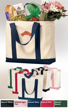 Port & Company Two-Tone Promotional Embroidered Tote Bag $10.98