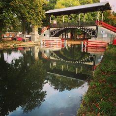 Le pont du petit paradis à Lille, près de la citadelle Oise, Calais, Ponds Backyard, City Art, Water Features, Architecture, House Styles, Photos, French Food