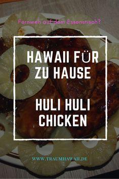 Das Huli-Huli Chicken ist wohl das berühmteste Hähnchen aus Hawaii, mal abgesehen von Heihei von Moana. Aber das Huli Huli Chicken ist zum Essen da und es wird Deine Art Hähnchen zu marinieren verändern. Denn mit diesem Rezept bekommst Du nicht nur ein Stück Hawaii auf Deinen Teller, sondern auch noch eines der leckersten Wege Hähnchen zu essen. #TraumHawaii #hulihulichicken #hawaiianischkochen Hawaiian Quotes, Huli Huli Chicken, Vintage Hawaii, Photo Vintage, Big Island Hawaii, Kauai Hawaii, Exotic Food, Beautiful Islands, Diy Food