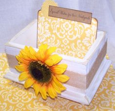 Wedding Guest Book Box  Advice Box Guest Book by itsmyday on Etsy, $42.00