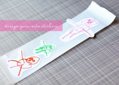 design your own stickers with children's drawings