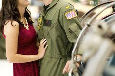 Engagement portrait  |  Patriotic engagement portraits  |  Military pictures  |  Flight suits  |   Navy  |  Pilots  |  Pensacola Destin Photography  |  Aislinn Kate Photography