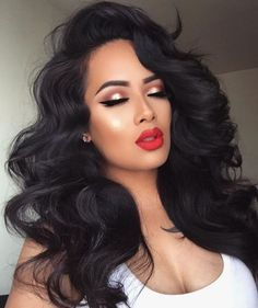 top 10 celebrity human hair wigs – My hair and beauty Pretty Hairstyles, Wig Hairstyles, Latina Hairstyles, Simple Hairstyles, Lace Front Wigs, Lace Wigs, Curly Hair Styles, Natural Hair Styles, Natural Black Hair Color