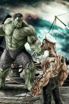 Quien ganara... popeye o hulk