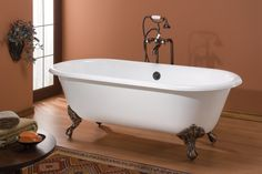 Image result for how to install soaking tub footed