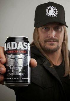 Look another celebrity beer! Kid Rock brings you the Made in Detroit American Badass Beer. Kid Rock Picture, National Beer Day, Love My Man, Rock Videos, Heavy Metal Bands, American, Rock N Roll, Rock Rock, Badass