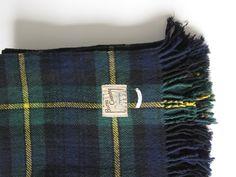 Vintage Gordon Tartan Plaid Wool Blanket by Burns Country Scotland by ModernSquirrel on Etsy https://www.etsy.com/listing/209571417/vintage-gordon-tartan-plaid-wool-blanket