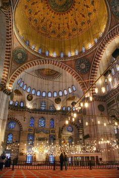 Inside of Blue Mosque- Istanbul Turkey (SO pretty!)