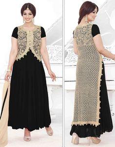 Ayesha Takia Black and Beige Churidar Kameez Set Best Designer Sarees, Indian Designer Wear, Designer Dresses, Ladies Suit Design, Bollywood Sarees Online, Salwar Kameez, Churidar, Suits For Women, Clothes For Women