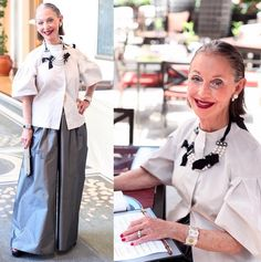Our very own Honey with some seriously fashionable statements, we love! | #fashion #over50 #ootd