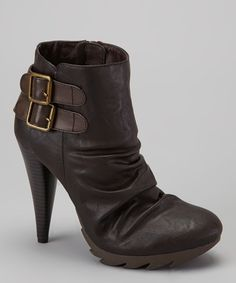 Take a look at this Jacobies Footwear Brown Tina 4 Boot on zulily today!