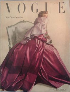 Vintage Vogue Cover January 1949