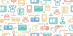 Retro Games Seamless Pattern 2 designed by Catalin Mihut.